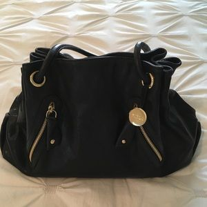 💕Furla black leather handbag. Beautiful !💕